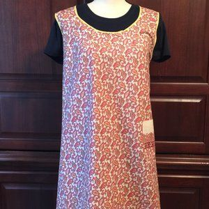 Full Length Paisley Apron with 1 Pocket